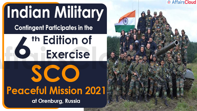 6th Edition of Exercise SCO Peaceful Mission 2021