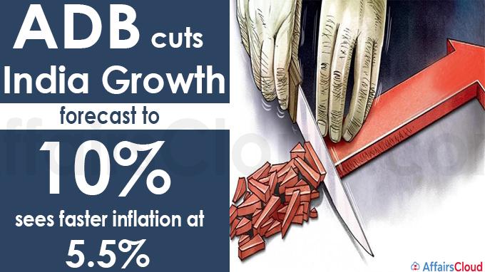 ADB cuts India growth forecast to 10%