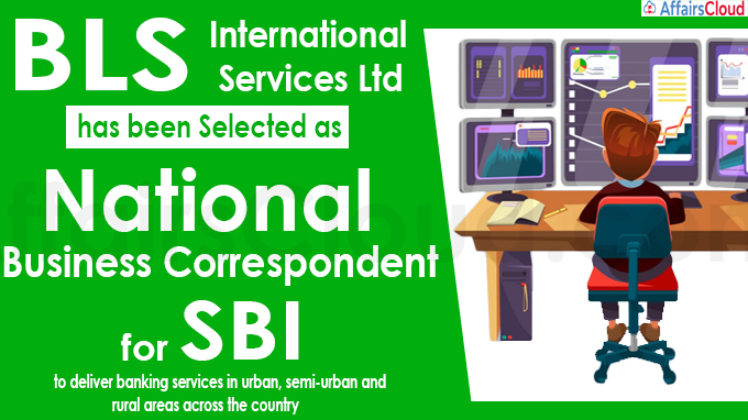 BLS International becomes National Business Correspondent of SBI