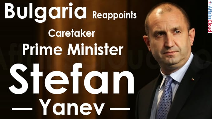 Bulgaria reappoints caretaker PM Stefan Yanev