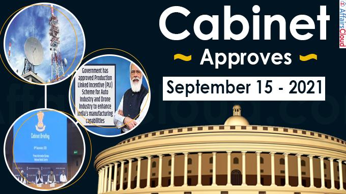 Cabinet Approval on September 15,2021