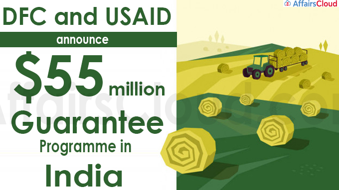 DFC and USAID announce $55 million guarantee programme in India