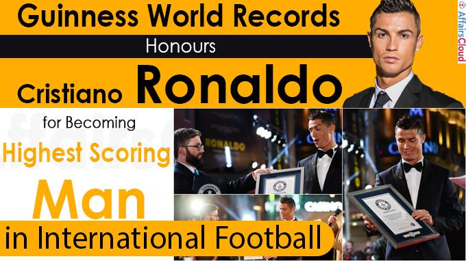 Guinness World Records Honours Cristiano Ronaldo for Becoming Highest Scoring Man in International Football