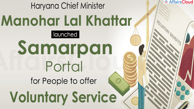 Haryana CM launches 'Samarpan Portal' for people to offer voluntary service