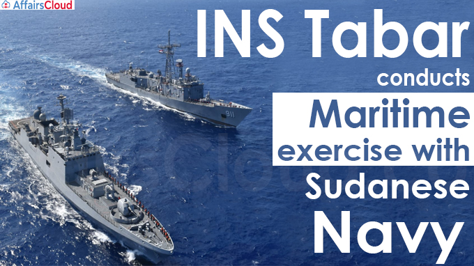 INS Tabar conducts maritime exercise with Sudanese Navy