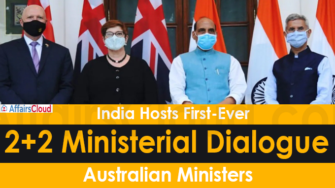 India Hosts First-Ever 2+2 Ministerial Dialogue with Australia