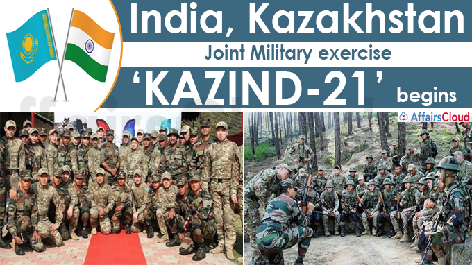 India, Kazakhstan joint military exercise 'KAZIND-21' begins