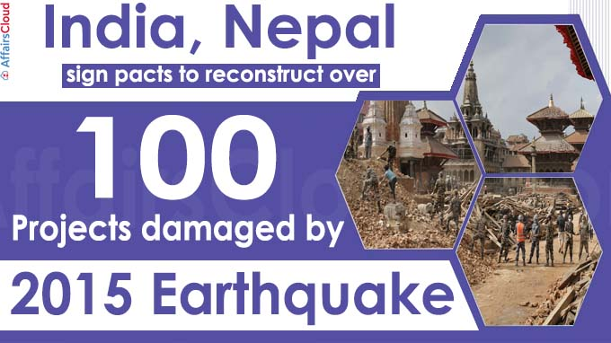 India, Nepal sign pacts to reconstruct over 100 projects damaged by 2015 earthquake