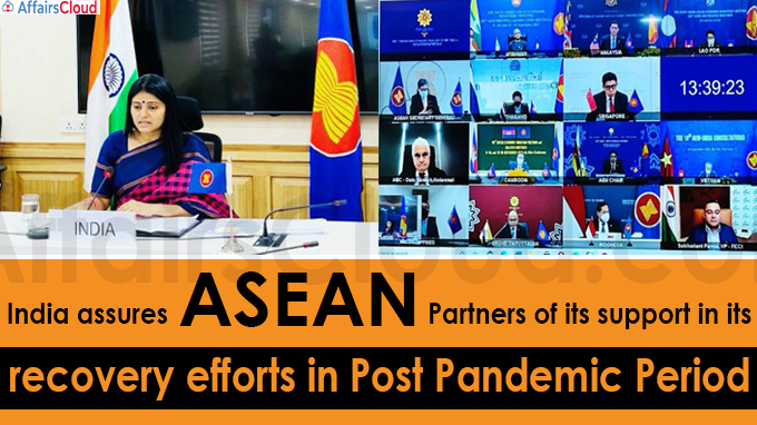 India assures ASEAN partners of its support