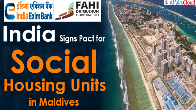India signs pact for social housing units in Maldives