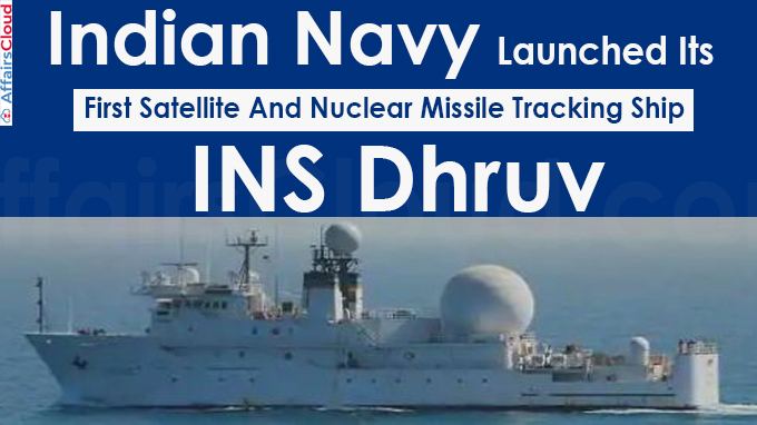 Indian Navy Launched Its First Satellite And Nuclear Missile Tracking Ship