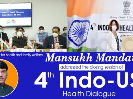 Mansukh Mandaviya addresses concluding session of 4th Indo-US Health Dialogue