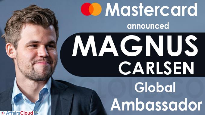 Mastercard names Magnus Carlsen global ambassador