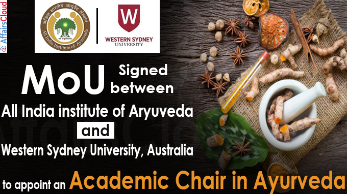MoU Signed between All India institute of Aryuveda and Western Sydney