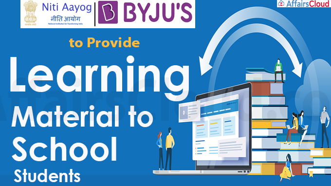 NITI Aayog, BYJU'S to provide learning material to school students