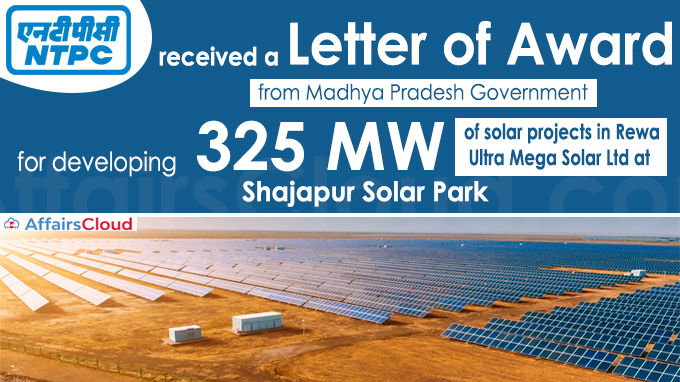 NTPC REL gets LoA for developing 325MW in MP's