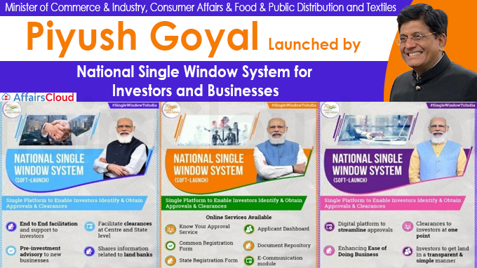 National Single Window System for Investors and Businesses Launched by Shri Piyush Goyal