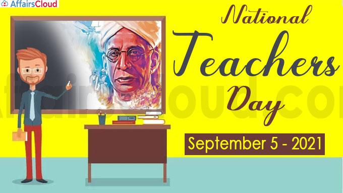 National Teachers Day - September 5 2021