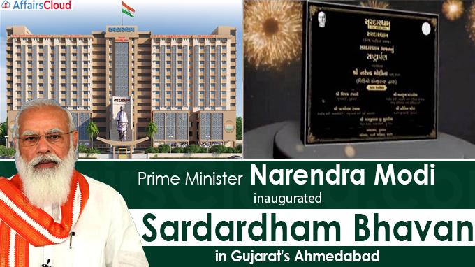 PM Modi inaugurates Sardardham Bhavan in Gujarat's Ahmedabad