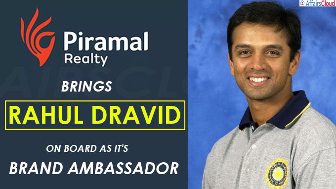 Piramal Realty brings Rahul Dravid on board as it's Brand Ambassador