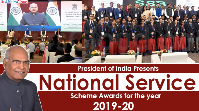 President of India Presents National Service Scheme Awards for the year 2019-20