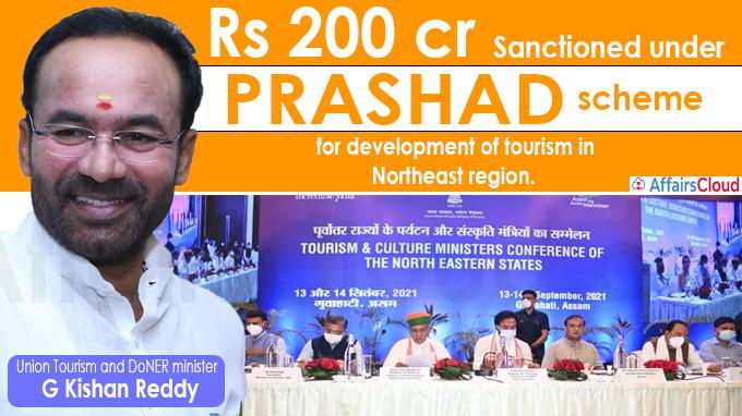 Rs 200 crore sanctioned under PRASHAD scheme for NE region G Kishan Reddy