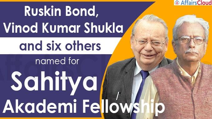 Ruskin Bond, Vinod Kumar Shukla and six others named for Sahitya Akademi Fellowship