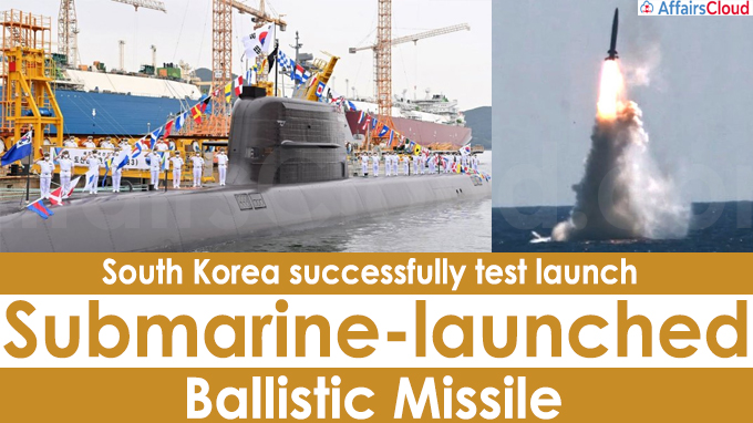 South Korea successfully test launch submarine-launched ballistic missile