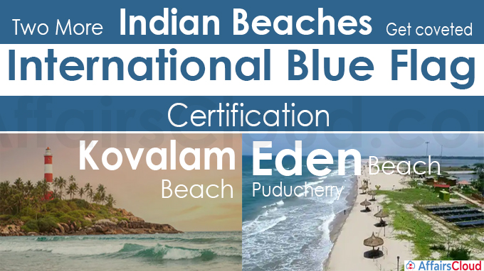 Two more Indian Beaches get coveted International Blue Flag Certification