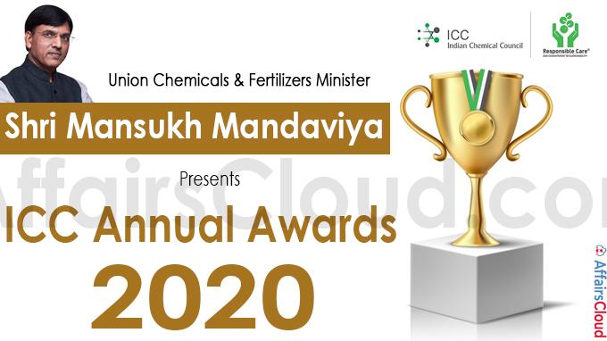 Union Chemicals & Fertilizers Minister Shri Mansukh Mandaviya presents ICC Annual Awards for the Year 2020