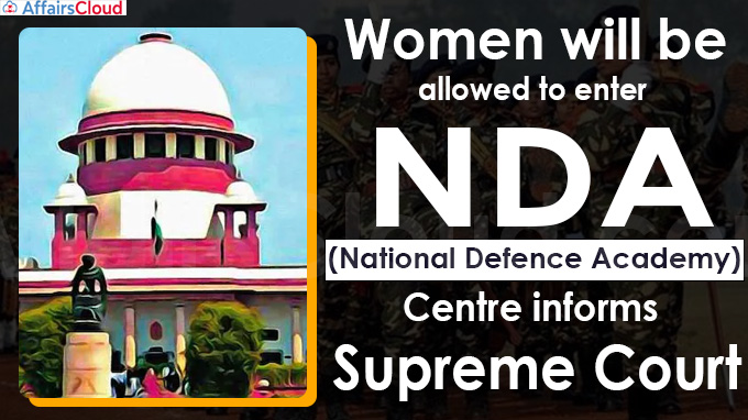 Women will be allowed to enter National Defence Academy