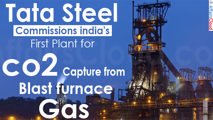tata steel commissions india's first plant for co2 capture from blast furnace gas