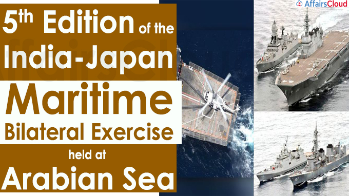 5th edition of the India-Japan Maritime Bilateral Exercise