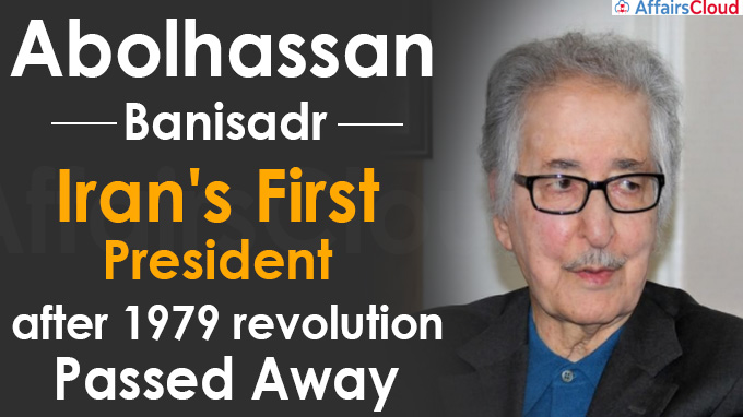 Abolhassan Banisadr, Iran's first president