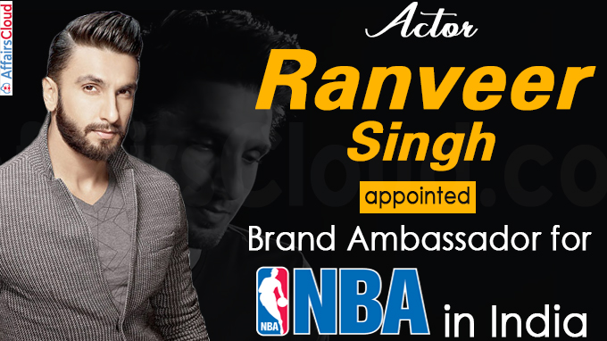 Actor Ranveer Singh appointed brand ambassador for NBA in India