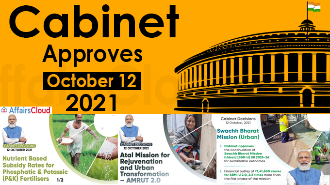 Cabinet Approval on October 12, 2021