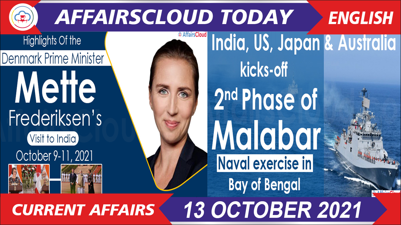 Current Affairs 13 October 2021 english new