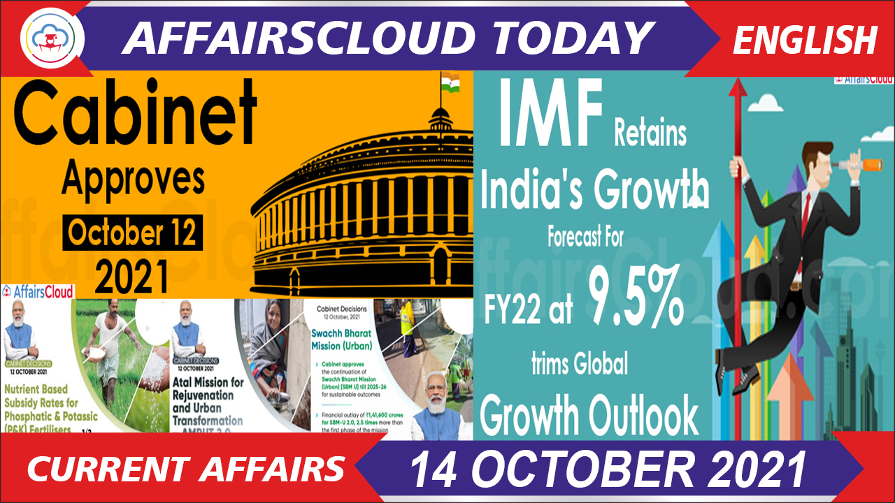 Current Affairs 14 October 2021 english new