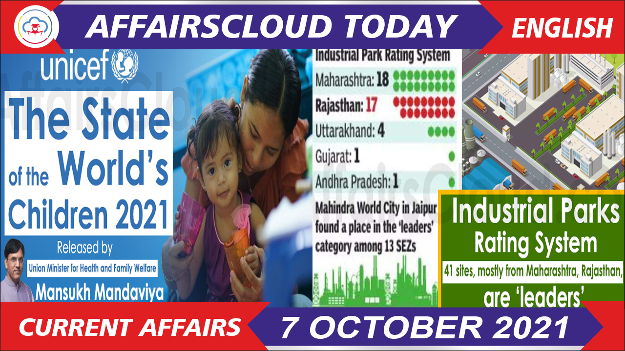 Current Affairs 7 October 2021 english