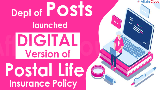 Dept of Posts launches digital version of Postal Life Insurance policy