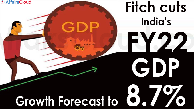 Fitch cuts India's FY22 GDP growth forecast to 8.7%