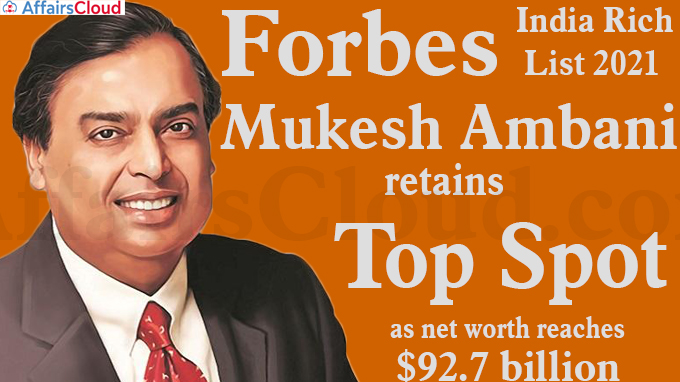 Forbes India Rich List 2021