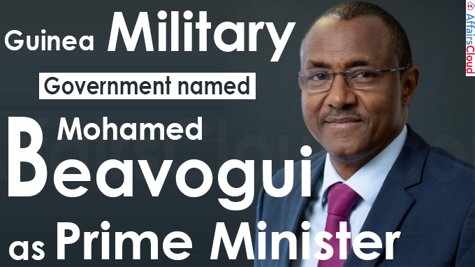Guinea military government names Mohamed Beavogui as PM