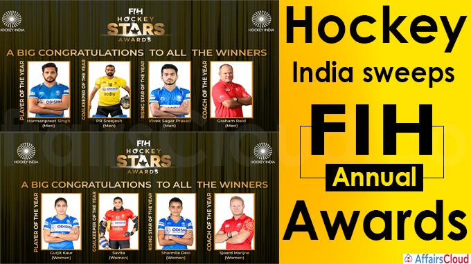 Hockey India sweeps FIH annual awards