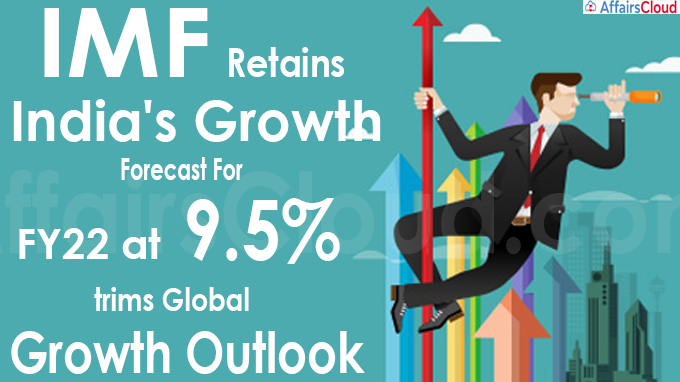 IMF retains India's growth forecast for FY22 at 9.5%