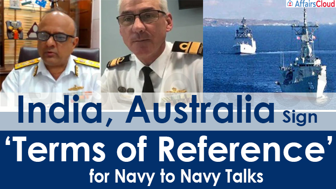 India, Australia sign 'Terms of Reference' for navy to navy talks