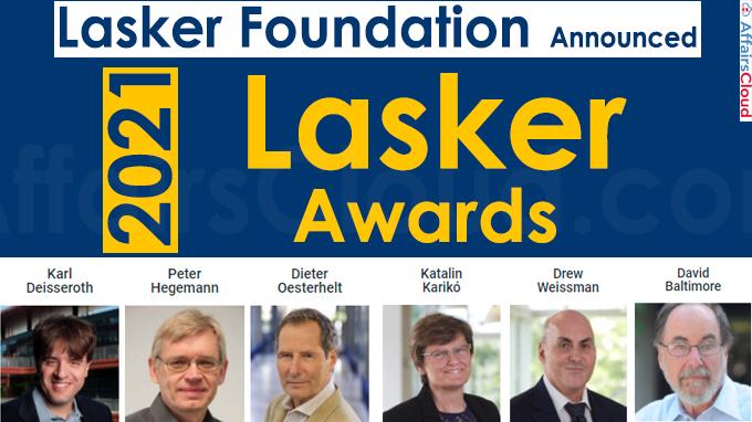 Lasker Foundation Announces 2021 Lasker Awards