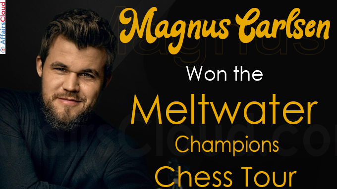 Magnus Carlsen wins the Meltwater Champions Chess Tour