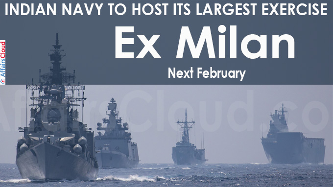 Navy to host its largest exercise, Ex Milan, next February
