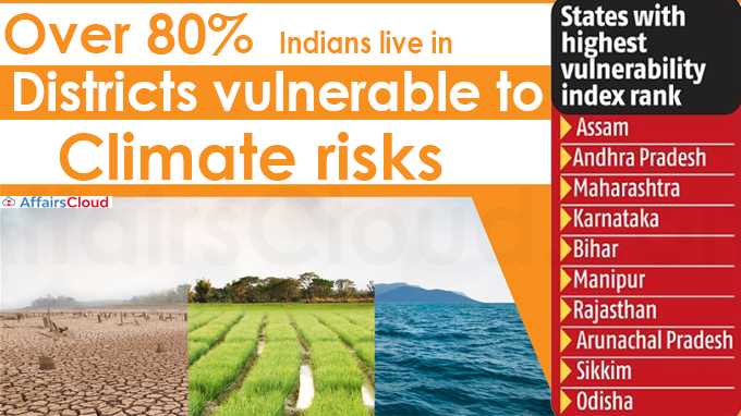 Over 80% Indians live in districts vulnerable to climate risks